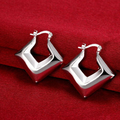 Fashion Jewelry 925 STERLING SILVER SWEET Femmes Dangle Boucles d/'oreilles Créoles GE700