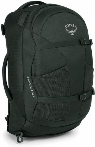 NEW Osprey Farpoint 40 Men/'s Travel Backpack Volcanic Grey Small//Medium
