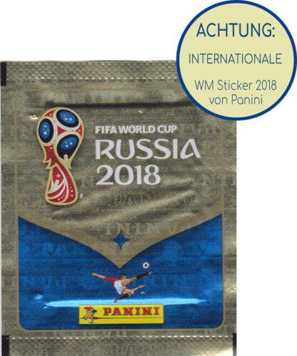 Panini WM 2018-1 Tüte INTERNATIONAL Version