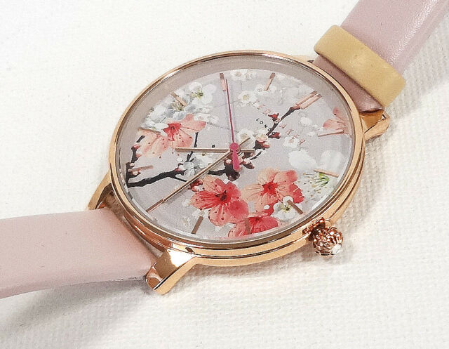 07ac6e8ba TED BAKER LONDON Women's Watch Floral Pattern Leather Band TE50493001 ...