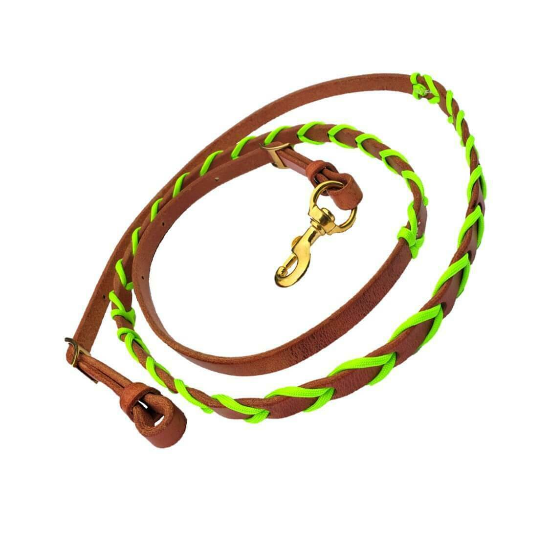 New Paracord Wrapped Leather Barrel Roping Leather Reins in Different Farbes