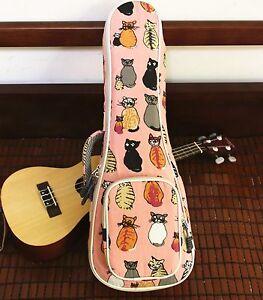 Cute Miss Cat Canvas Padded Concert Ukulele Case Ukulele Carry Bag Gig Bags Gift Ebay