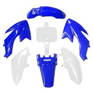 CRF50-plastic-body-kit-set-For-Honda-50-Pit-Bike-Dirt-High-Quality-Blue-amp-White