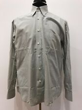 $158 Luciano Barbera Gray Plaid Men's Italian Cotton Dress Shirt Size M