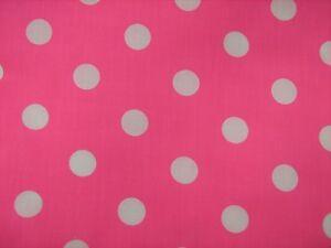 Cerise-25mm-Spot-Polycotton-Prints-Craft-Dress-Fabric-2-64-per-mtr