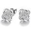 Luxury Women 925 Silver Plated Piercing Ear Stud Earrings Simple Style Jewelry
