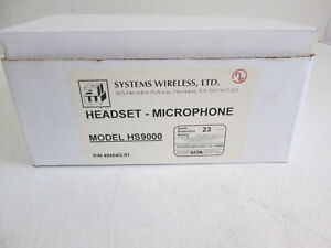 David Clark Co. Inc. Aviation Headset & Microphone Model HS9000 Shure 40464g-01
