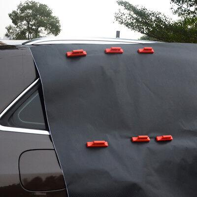 Radient 2 X Car Wrapping Magnethalter Magneten Büro & Schreibwaren Kratzerfrei Mit Stoff Filzkante Rot Neu Mit Dem Besten Service Präsentationsbedarf