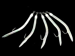 FISHING LURES LINEAEFFE MACKERAL WHITE x 1 pack /& 1 pack Tinsel Heads salmon