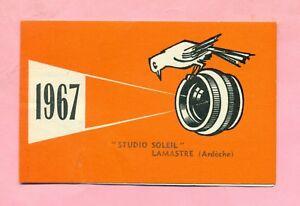 Calendrier Soleil.Details Sur Calendrier De Poche 1967 Publicitaire Studio Soleil Photographe Lamastre