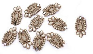 Royal-Indian-Appliques-Decorative-Patches-Beaded-Applique-Sewcrafting-5-Pair