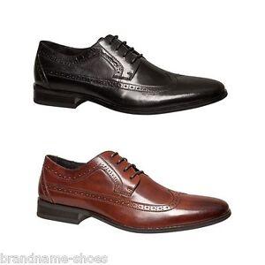 MENS-JULIUS-MARLOW-CEDAR-MEN-S-BLACK-BROWN-LEATHER-LACE-WORK-FORMAL-DRESS-SHOES