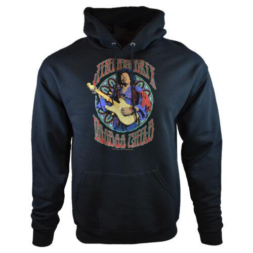 JIMI HENDRIX Mens Hoodie Sweater Sweatshirt Vintage Hoody Pullover Hooded Black