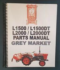 Kubota L1500 1500dt 2000 2000dt Parts Manual Printed Japanese English