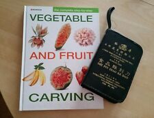 Fruit vegetable culinary carving tools and book set