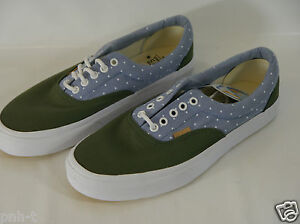 Vans Era CA Pois Chambray Thyme Verde BLU MEN'S TRAINER UK 7 9