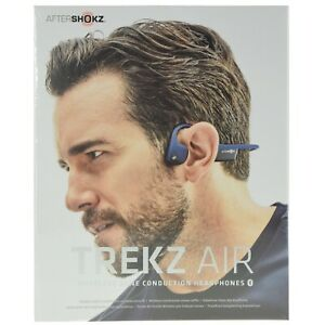 d2d1302b0f8 Image is loading Aftershokz-Trekz-Air-Bone-Conduction-Bluetooth-Headphones -Blue-