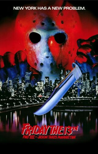 R426 FRIDAY THE 13TH PART VIII Jason Takes Manhattan Movie-Print Art Silk Poster