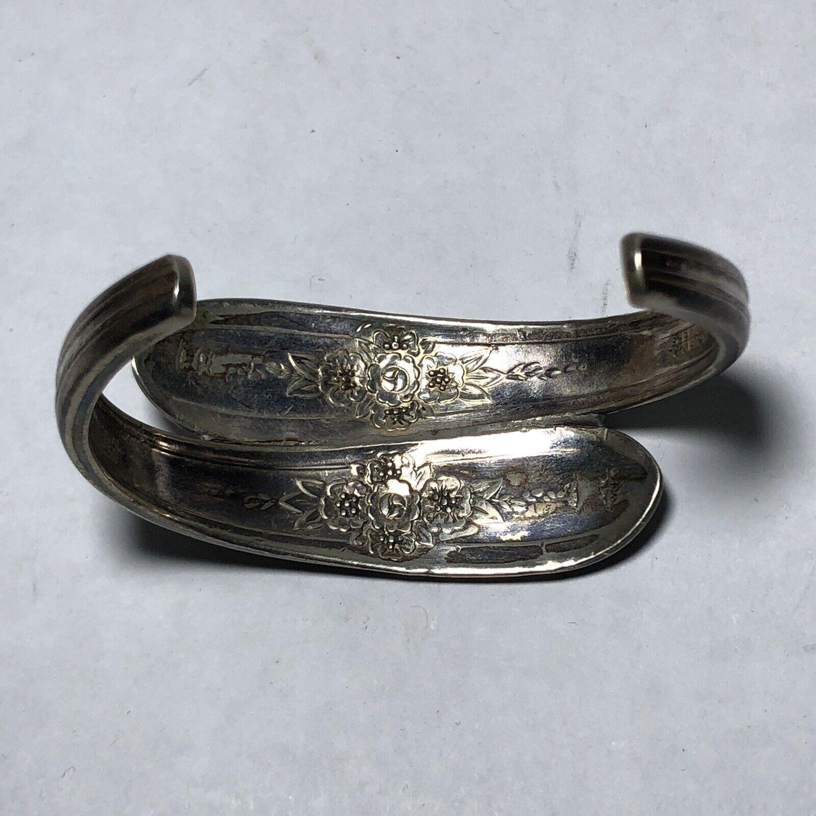 Wm Rogers Extra Plate Vintage Cuff Bracelet Origi… - image 2