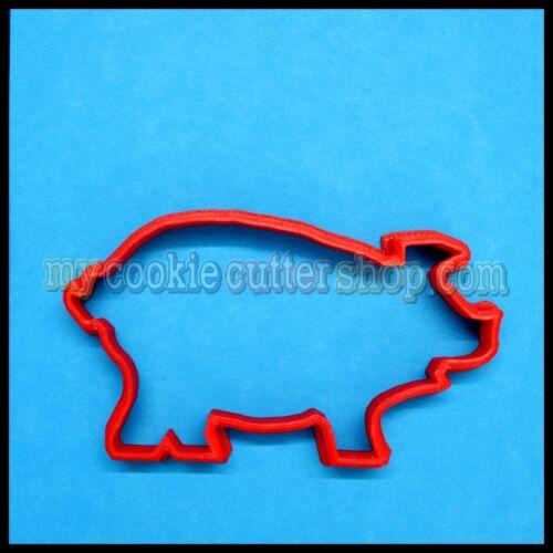 10cm wide x 5cm high FARM PIG COOKIE CUTTER