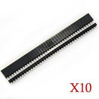 20 Pcs 2.54mm Breakaway Pcb 40 Pin Male Female Header Connector Arduino Shield