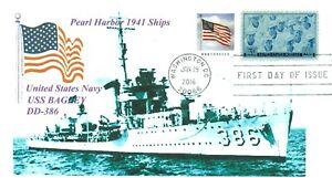 Uss-Bagley-DD-386-Pearl-Harbor-1941-Blu-Foto-Marchio-Navale-Primo-Giorno-Pm