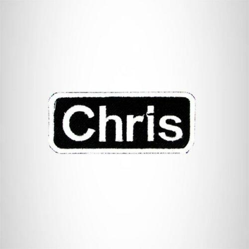 Chris Iron on Name Tag Patch for Motorcycle Biker Jacket and Vest NB146
