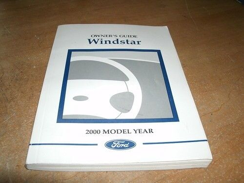 2000 FORD WINDSTAR GENUINE OWNERS MANUAL OEM ORIGINAL
