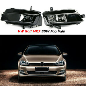 Pair-Front-Bumper-Fog-Lights-Driving-Without-Bulb-For-VW-Golf-7-MK7-2012-2016