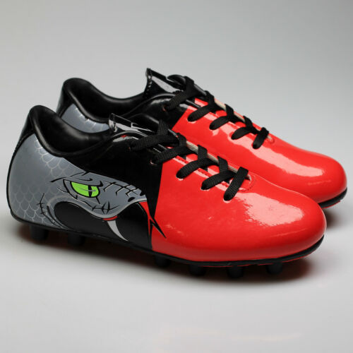 Black Vizari Snake Youth Soccer Cleats Red NEW