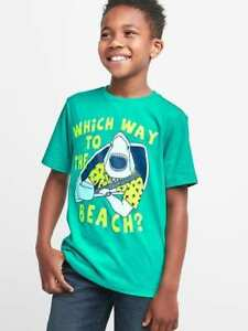 Image Is Loading Nwt Kid Gap Shark To The Beach Graphic