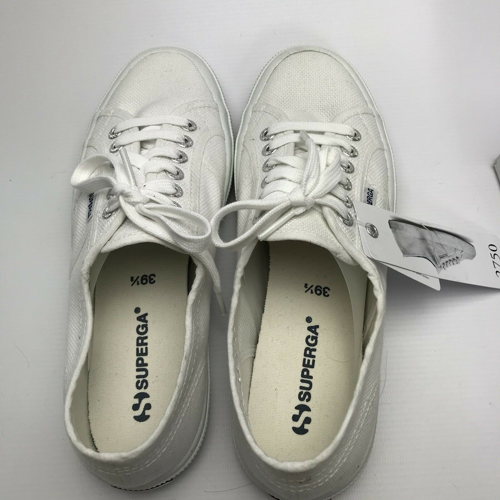 Superga 2750 Cotu Classic Womens White Canvas 39.5 Trainers UK 6 EUR 39.5 Canvas US 8.5 d39018