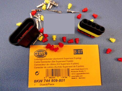 5 Satz Leitungsverbinder Sortiment 5 polig  Sonderposten HELLA 8KW 744 809-801
