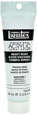 Liquitex Professional Heavy Body Acrylic Paint 2-oz tube, Titanium White, New