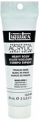 Liquitex Professional Heavy Body Acrylic Paint 2-oz tube, Titanium White, New