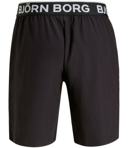 BJORN BORG August Workout Training Shorts Men/'s Long Gym Shorts Black