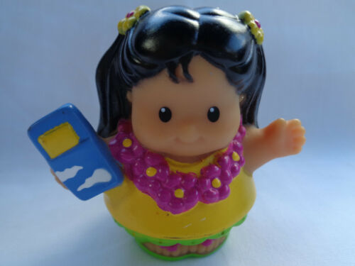 Fisher Price Little People 2005 Hawaiian Vacation Girl With Lei /& Cellphone