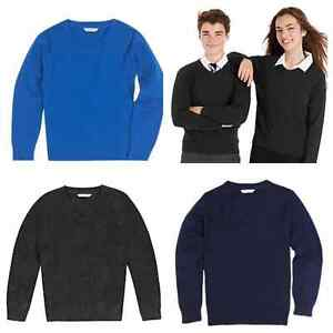 find workmanship convenience goods full range of specifications Details about NEW Ex M*S BOYS GIRLS COTTON RICH V NECK SCHOOL JUMPER NAVY  BLACK GREY BLUE