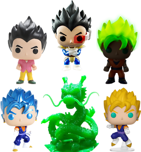 DBZ - Shenron Jade Emerald Funko POP VINYLS New in Boxes SET OF 6