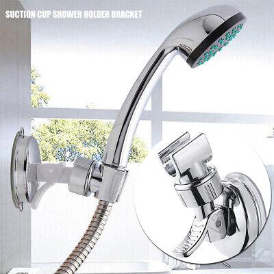 Bathroom Shower Head Handset Bracket 22mm Wall Mounted Chrome Adjustable Holder