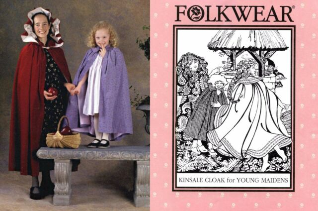 Folkwear 208 Kinsale Cloak For Young Maidens Girls Cape Sewing