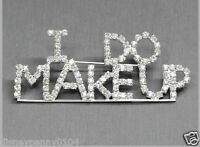 i Do Makeup Rhinestone Pin-mary Kay-avon-makeup Artist-3 Inch By 1 1/4 Inches