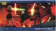 Star Wars Clone Wars Widevision Silver Stamped Parallel Base Card [500] #32