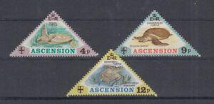 Le-Poissons-Animaux-de-Mer-Ascension-170-72-Tortues-MNH