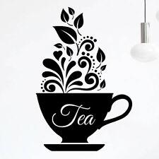 Love tazas de café té de Pared de Cocina Adhesivo Vinilo Calcomanía Decoración para Arte Restaurante Pub