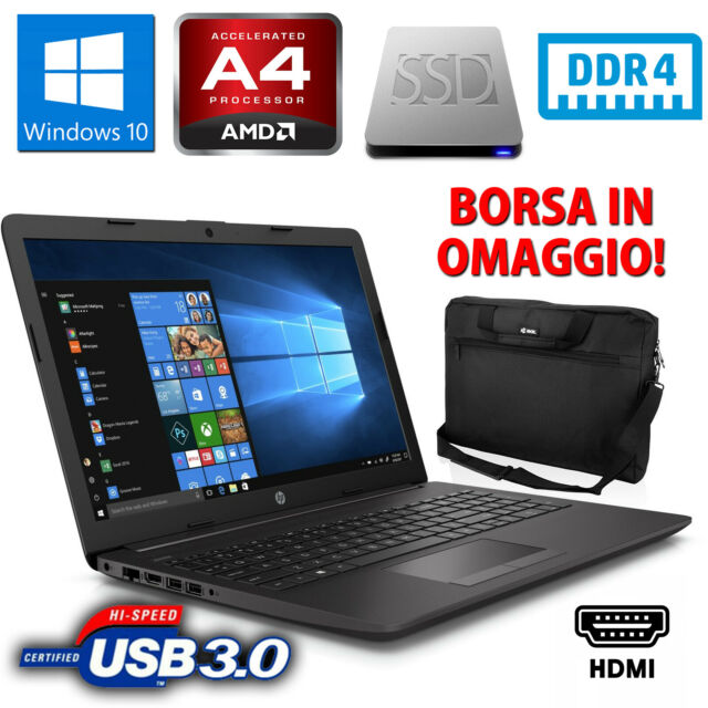 "PC COMPUTER PORTATILE LAPTOP NOTEBOOK HP 255 G7 15,6"" 8GB SSD 256GB WINDOWS 10"