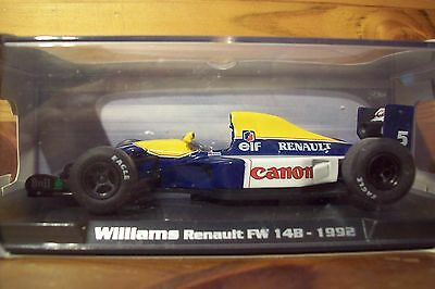 1/43 Rba 1992 Williams Fw14b Nigel Mansell World Champ-mostra Il Titolo Originale Ricco E Magnifico
