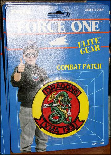 ERTL Flite Gear Combat Patch NIB Dragons VMA 133