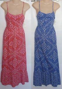 Womens-AEROPOSTALE-Bandana-Print-Maxi-Dress-size-S-NWT-5009