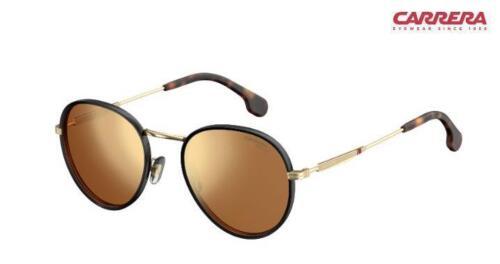 J5GK1 Gold Brown Mirror Gold RRP-£130 Carrera Sunglasses 151//S Black